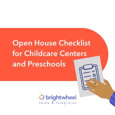 Open House Checklist for Childcare Centers and Preschools - brightwheel-2